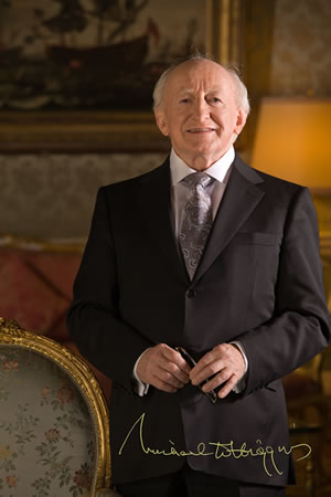 OUR PARTON: Michael. D. Higgins PRESIDENT OF IRELAND